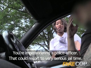 Fake Cop New recruit earns her stripes in threesome