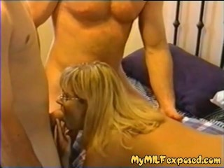 My milf exposed sexy wife threesome stuffed in all holes