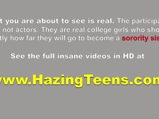 Real Hazing Party For Horny College Lesbo Teens