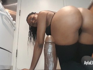 Ayla – Riding my Thick Black Dildo