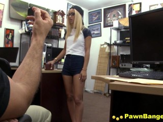 Naughty Blond Newlywed Cheats Her Hubby To Reclaim Pawned Ring
