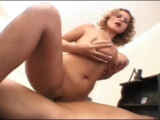 Hot big titty MILF rides a large cock