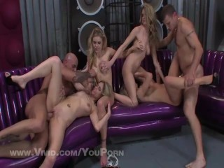 Horny Group Has A Double Twin Orgy