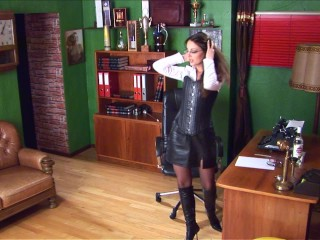 Lorena Garcia – Hot Leather In The Office