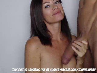MILF sucking her young bull dry…