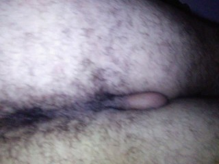 Reverse cowgirl fucked guy, big head cock cum fountain