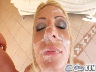 Gia can hardly wait for the cum shower to start