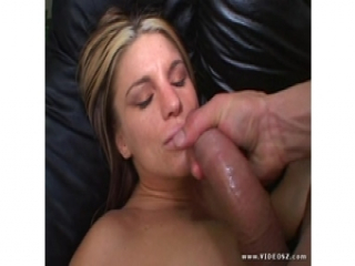 Jackie Moore gets her face splattered with warm jizz