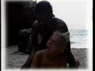Black man joins in for some sex on the beach