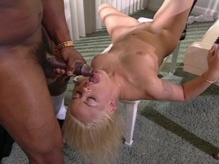 Getting hammered  by a big black cock to save her dad (clip)