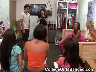 College Girls Compete In Blowjob Task At Party