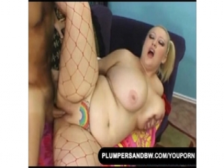 Busty Blonde Takes Black Fat Dick