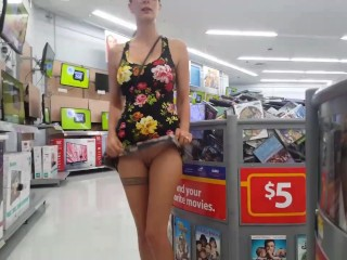 Walmart Flashing in a Mini Dress – Upskirt – Lydia Luxy
