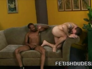 Hasty stud getting his ass spank