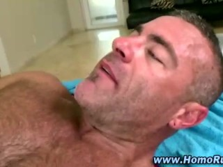 First time gay muscley hunk cums
