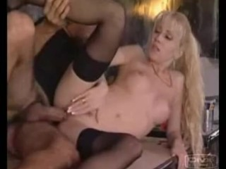 Blonde gets all deep from latin lover