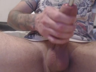 Hot pumping! fat cock sounding and wanking :)