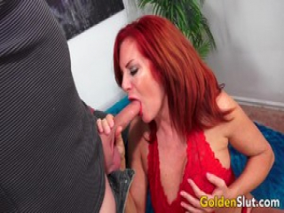 Older Andi James Gorges Herself on Cock