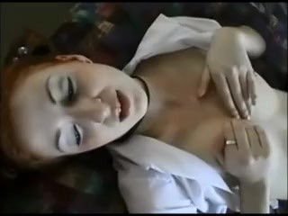 Dilettant redhead creampied on real homemade