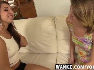 WANKZ- Unbelievably Hot Teens Ariana and Scarlett Fuck