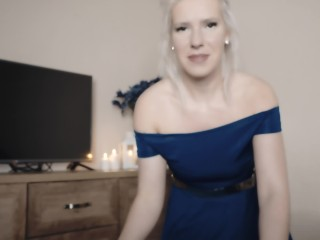 Slow edging Pov ATM blowjob and anal riding with blonde angel in the dream.