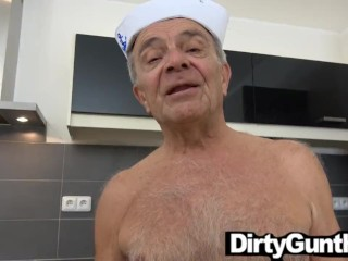 Old Gunther Punished by Hot Twink