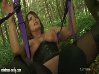 Horny mistress order cuckold to watch her fuck big cock