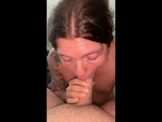 amateur couple I suck hia dick until he fills my mouth up with cum