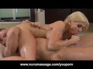 Big Tit Blonde Christie Stevens Nuru Massage and 69