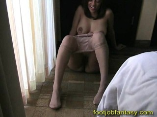 Tracy is a Pantyhose Tease