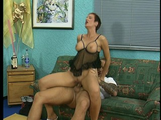 Sexy maid gets licked till she's wet