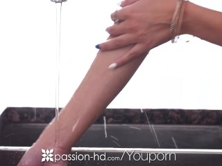 Passion-HD – Half naked cooking cutie Dillion Harper is fucked