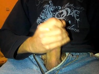 Close up cumshot with slowmotion