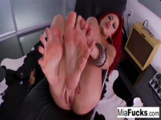 Hot Mia showing off her sexy feet