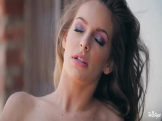 Naked beauty Kimmy Granger toys her pussy outdoors