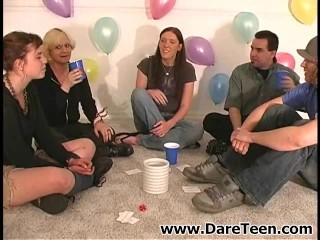 Sexy girls play truth or dare