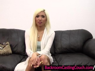 Blonde Deaf Asian Ass Fucked and Creampie
