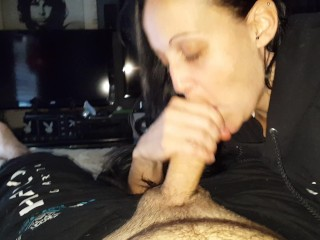 Edging his cock, driving him insane