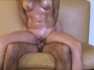 Hot body wife reverse anal and gaping pussy
