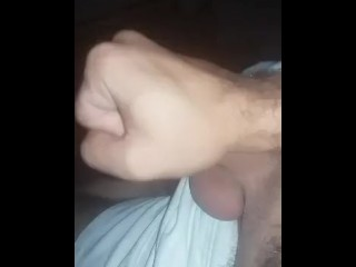 Hairy Arab Syrian guy stroking his small cock and cumming