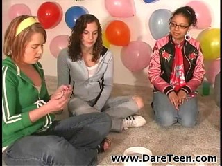 Teen chicks play truth or dare sexgame