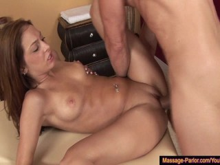 Perfect Pussy Gets Drilled in the Massage Parlor