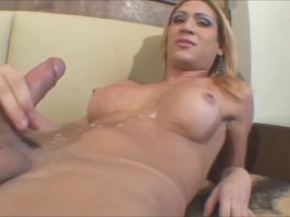Compilation with heavy shemale cums