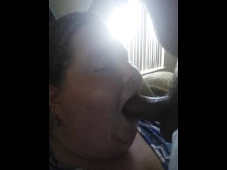 Fat bitch gets her face fucked