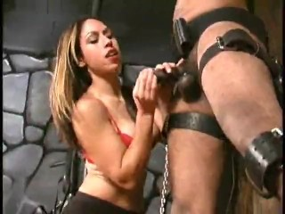 Aie's Ruthless Ball Slapping of tied up Black Slave (Femdom)