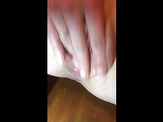 Russian girl dildoing her wet pussy