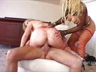 Two horny anal sluts pounded hard with facial ending