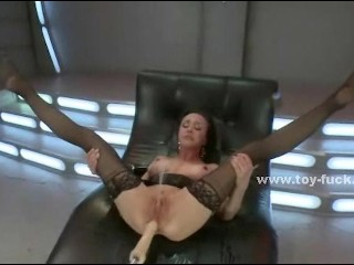 Pair of horny babes play dirty in ass fuck with huge toys and hands screaming and loosing control