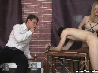 Teens Analyzed – Assfucked and double-drilled on a case