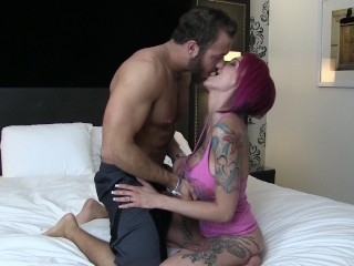Chad White Rails Anna Bell Peaks into a MASSIVE Cum Shot!